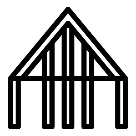 Roof supporting structure icon. Outline roof supporting structure vector icon for web design isolated on white background