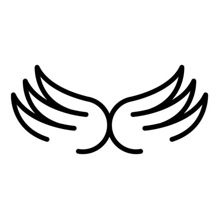 Bird wings icon, outline style Stock Illustratie
