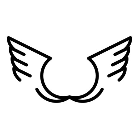 Tribal wings icon, outline style
