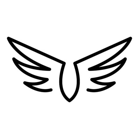 Art wings icon, outline style Stock Illustratie