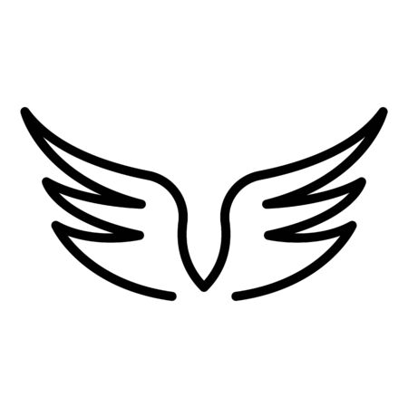 Heraldic wings icon, outline style Stock Illustratie