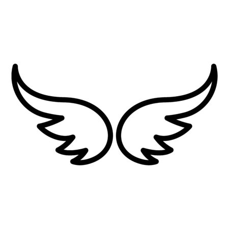 Freedom wings icon, outline style