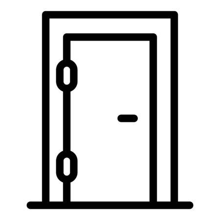 Door repairman icon, outline style Ilustracja