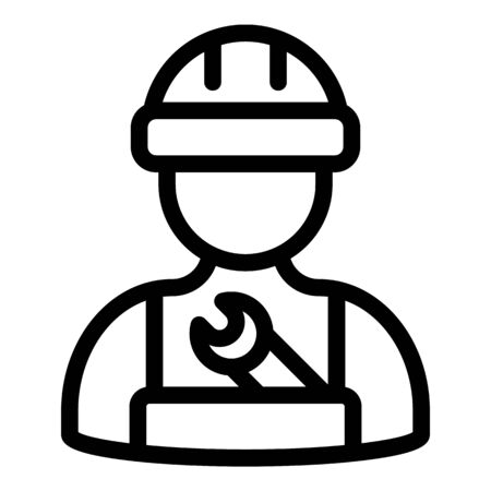 Wrench repairman icon, outline style