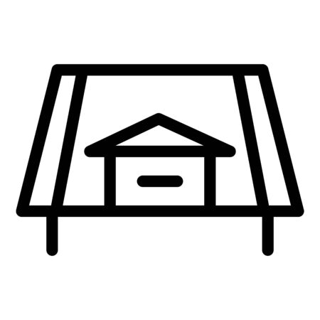 House roof side view icon, outline style
