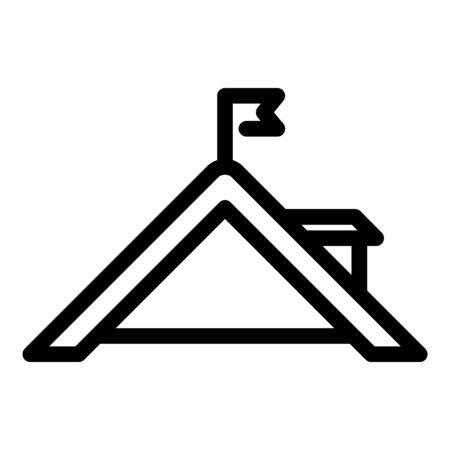 Roof end icon, outline style Ilustracja