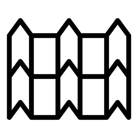 Peaked metal tile icon, outline style