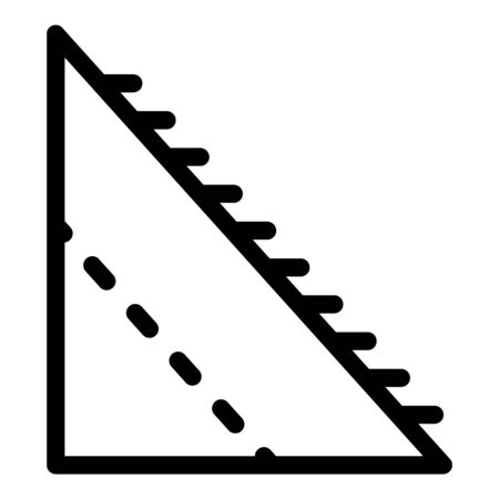 Corner part of the roof icon, outline style