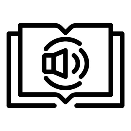 Audio book icon, outline style