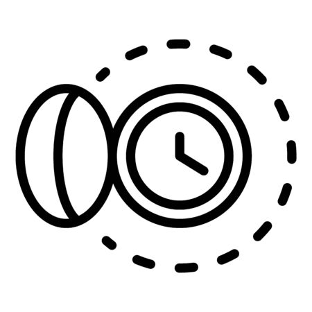 Watch with a cover icon, outline style