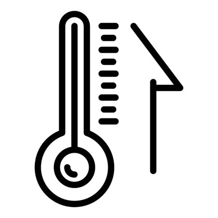 Thermometer in the sauna icon, outline style