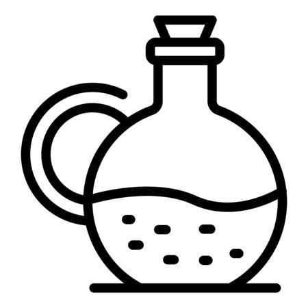Carafe with liquid icon, outline style