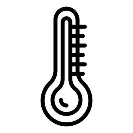 Thermometer in the steam room icon. Outline thermometer in the steam room vector icon for web design isolated on white background