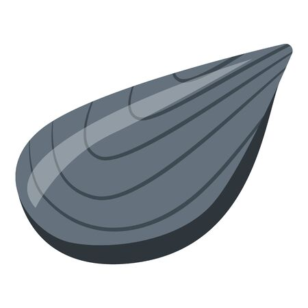 Mussel clam icon. Isometric of mussel clam vector icon for web design isolated on white background