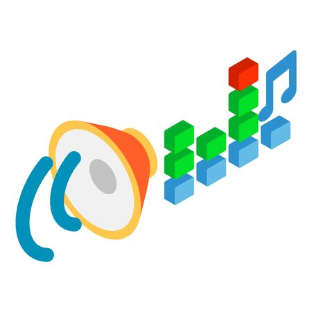 Music playback icon, isometric style 写真素材 - 143414773