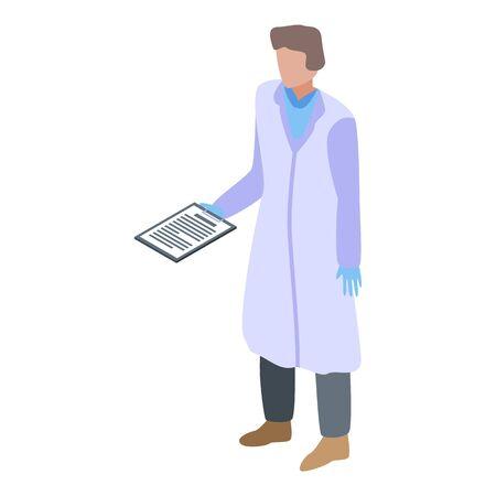 Lab biologman icon, isometric style