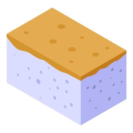 Polyurethane foam finishing icon, isometric style Ilustração