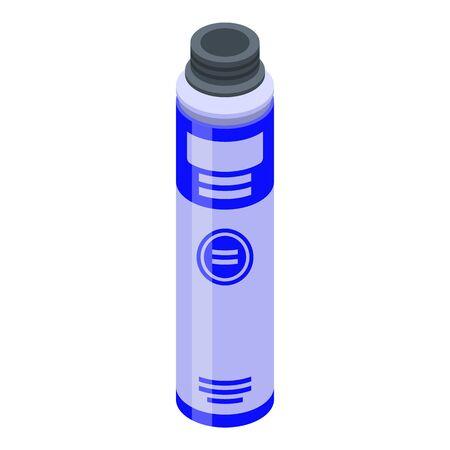 Industry polyurethane foam icon, isometric style Vectores