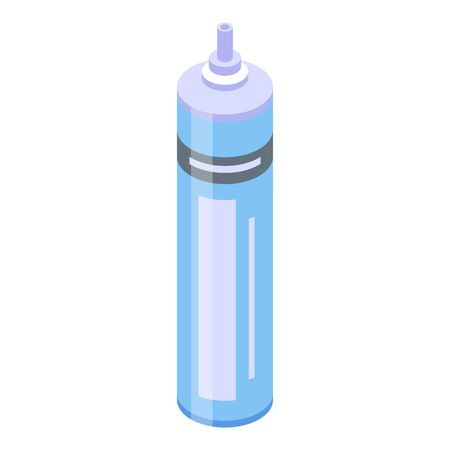 Industry foam tube icon, isometric style