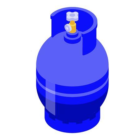 Propane gas cylinders icon, isometric style