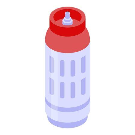 Lpg gas cylinders icon, isometric style