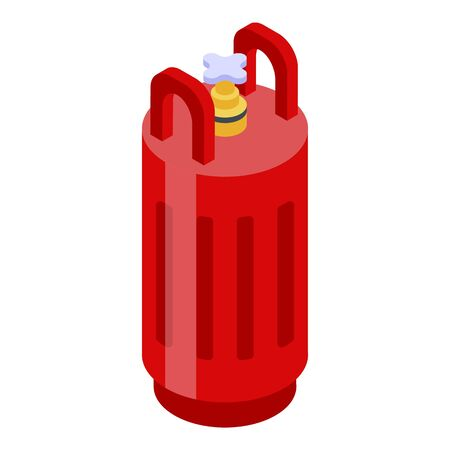 Gas tank icon. Isometric of gas tank vector icon for web design isolated on white background Иллюстрация
