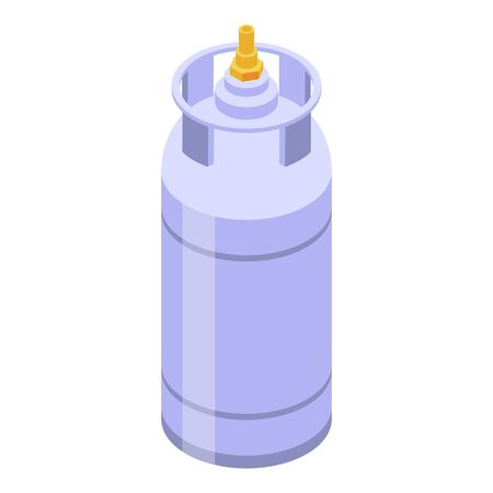 Cooking gas cylinder icon. Isometric of cooking gas cylinder vector icon for web design isolated on white background