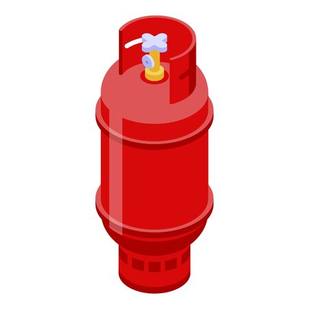 Industrial gas cylinder icon. Isometric of industrial gas cylinder vector icon for web design isolated on white background