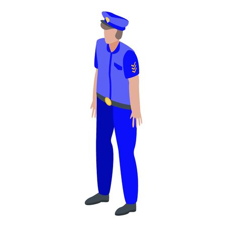 Police patrolman icon. Isometric of police patrolman vector icon for web design isolated on white background