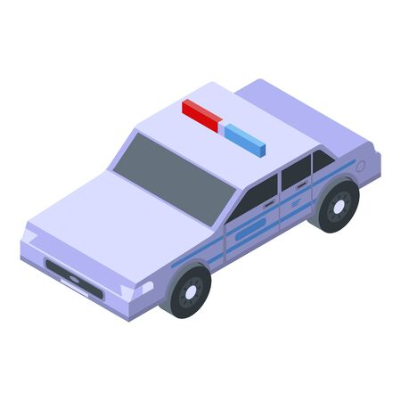 Patrol police car icon, isometric style