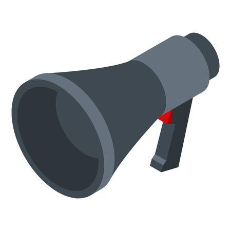 Police megaphone icon, isometric style 版權商用圖片 - 143523267