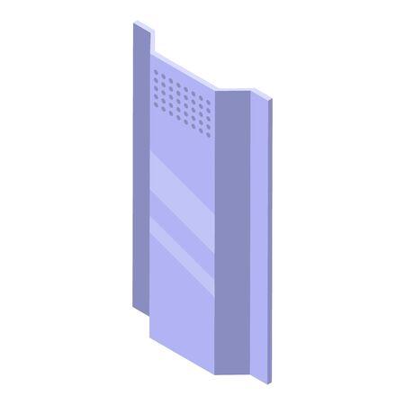 Police steel shield icon, isometric style Ilustración de vector