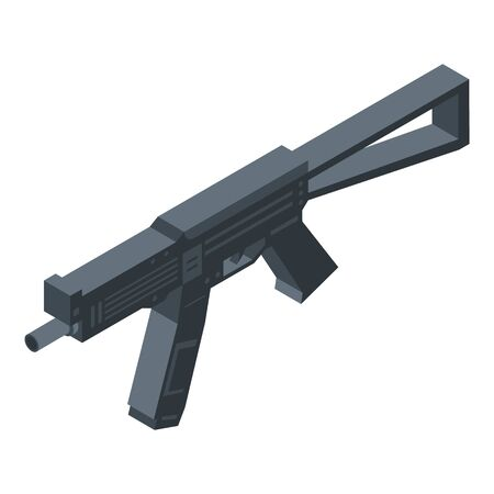 Police assault rifle icon, isometric style
