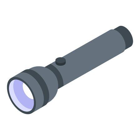 Police flashlight icon, isometric style 版權商用圖片 - 143523393