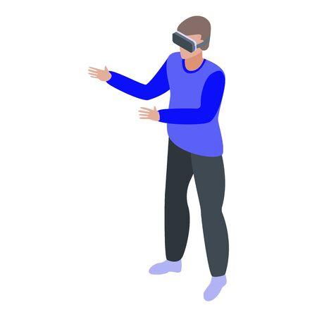 Modern virtual reality icon. Isometric of modern virtual reality vector icon for web design isolated on white background 向量圖像