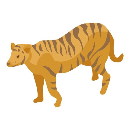 Zoo tiger icon, isometric style 向量圖像