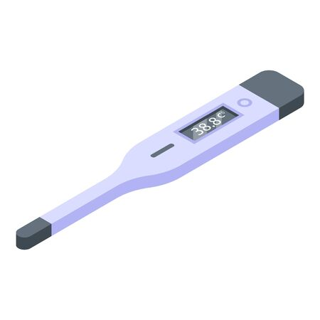 Electric thermometer icon, isometric style