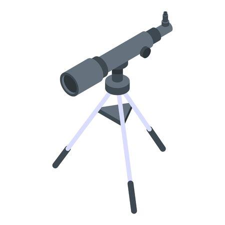 Telescope icon, isometric style