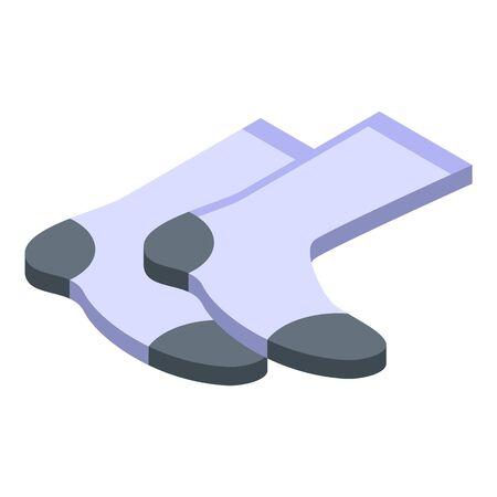 Sport basketball socks icon, isometric style