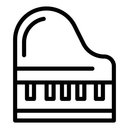 Grand piano icon, outline style  イラスト・ベクター素材