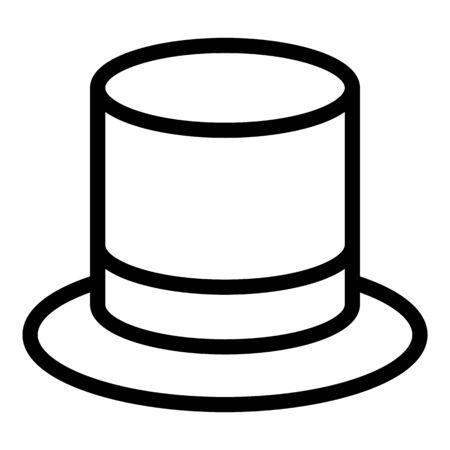 Top hat icon. Outline top hat vector icon for web design isolated on white background Vektoros illusztráció