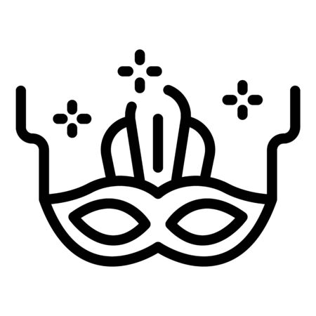 Theatre mask icon, outline style 向量圖像