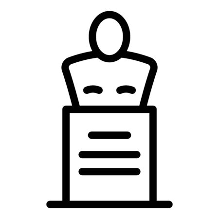 Theatre bust icon, outline style