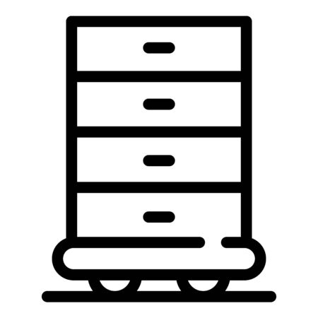 Kid room drawer icon, outline style