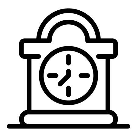 Desktop pendulum clock icon, outline style Stock Illustratie