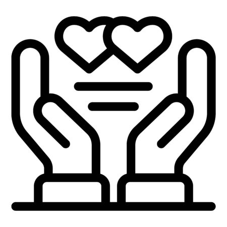 Keep care affection icon, outline style