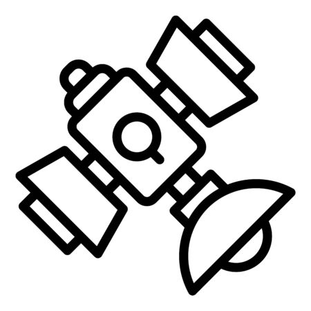Satellite tower icon, outline style