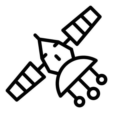 Telecommunication satellite icon, outline style Illusztráció