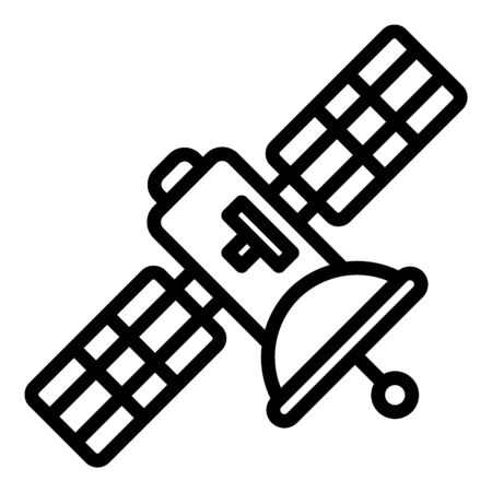 Trendy satellite icon, outline style
