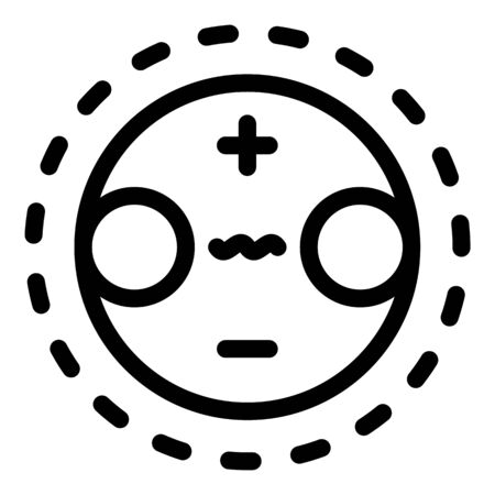 Planet gravity icon, outline style 向量圖像